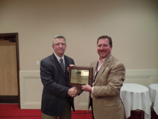 APWA Spring Conference 2015 043 Russ Tomevi with George Williams Award.JPG