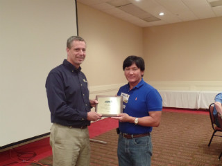 APWA Spring Conference 2015 053 Ray Ibarra with Presidents Award.JPG