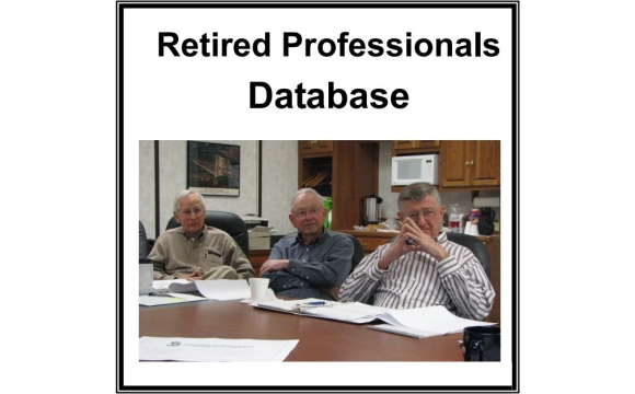 Sign up for the Retired Professionals Database Today!